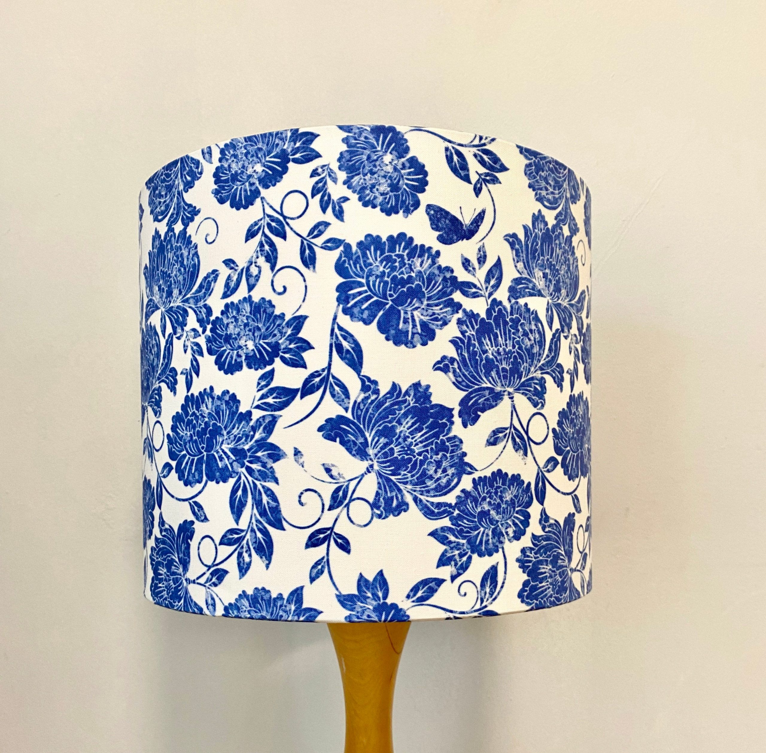 Summer Flowers White And Blue Lampshade Hello Boho Handcrafted Lampshades Homewares Home Decor